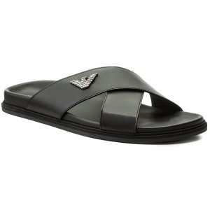 Slides EMPORIO ARMANI - X4P067 XC061 00002 Black - Clogs and mules - Mules  and sandals - Men s shoes - www.efootwear.eu bcbc5941af
