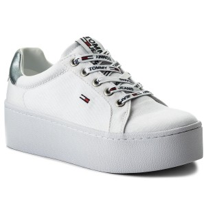 db2b0e18d81 Sneakers TOMMY JEANS - Flatform Sneaker EN0EN00237 White 100 - Sneakers -  Low shoes - Women s shoes - www.efootwear.eu