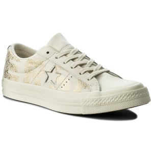 Turnschuhe CONVERSE - One Star Ox 159759C Egret/Gold/Egret