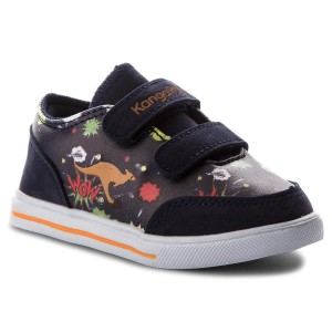 Schuhe KANGAROOS - Baby Flash V 02017 000 4090 Navy/Comic HSW42qha