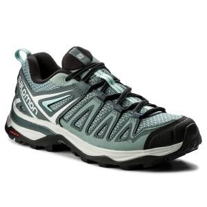 229565858232 Trekker Boots SALOMON X Ultra 3 Prime W 40127125 W0 Lead Stormy  Weather Canal Blue