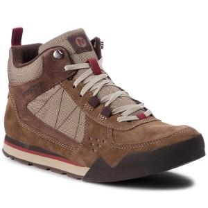 Trekker Boots MERRELL - Burnt Rock Tura Mid Suede J32879 Merrel Stone 09c9c2b66e8