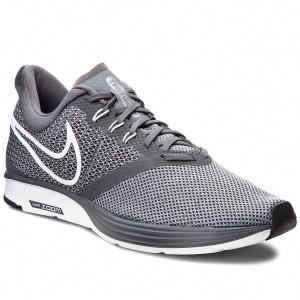 d129921fe9ea Shoes NIKE - Zoom Strike AJ0189 002 Dark Grey White Stealth Black - Indoor  - Running shoes - Sports shoes - Men s shoes - www.efootwear.eu