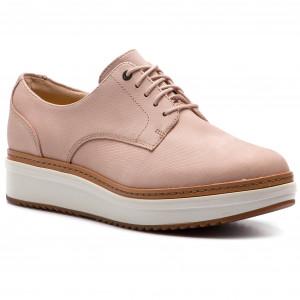9c41bc8eb0 Oxfords CLARKS - Teadale Rhea 261402154 Blush Nubuck - Oxfords - Low shoes  - Women's shoes - www.efootwear.eu