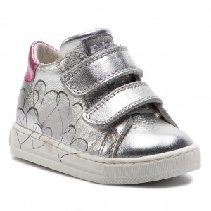 Sneakers NATURINO - Falcotto By Naturino 0012013618.02.0Q04 Argento -  Velcro - Low shoes - Girl - Kids  shoes - www.efootwear.eu f4e1fba15a9