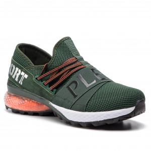 f2d2e17f273 Sneakers PLEIN SPORT Runner Statement S19S MSC1866 STE003N Military 65