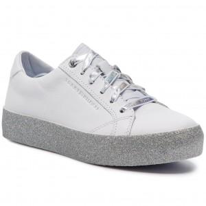 800a17641f316 Sneakers TOMMY HILFIGER - Glitter Dress Sneaker FW0FW03962 Whithe 100 -  Sneakers - Low shoes - Women's shoes - www.efootwear.eu