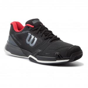 online store 9b06c 95202 Shoes WILSON - Rush Pro 2.5 2019 Clay Court WRS325240 Black Ebony Wilson Red