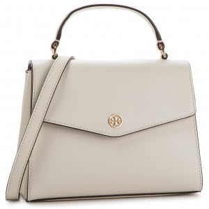 e22effb88683d Handbag TORY BURCH - Robinson Small Top-Handle Satchel 49686 Birch 107