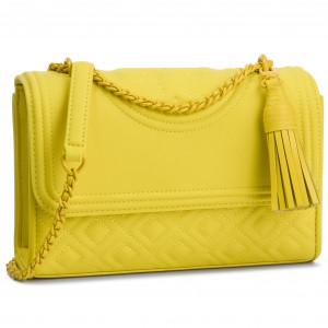 78a4dea0beb Handbag TORY BURCH - Fleming Matte Small Convertible Shoulder Bag 39927  Yellow Orchid 791