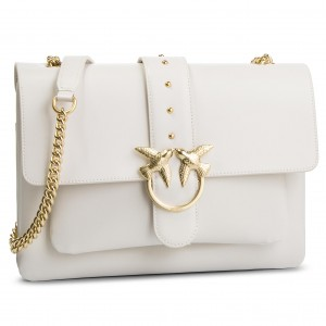 Handbag PINKO - Big Love Simply 1 Tracolla PE 19 PLTT 1P21B1 Y5EU White I09 180fb5d0a82