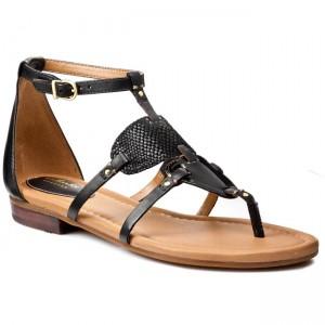 f1ea2c592 Slides CLARKS - Viveca Athen 261060084 Black Leather - Casual sandals -  Sandals - Mules and sandals - Women s shoes - www.efootwear.eu