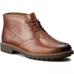 Boots CLARKS Montacute Duke 203510937 Dark Tan Leather