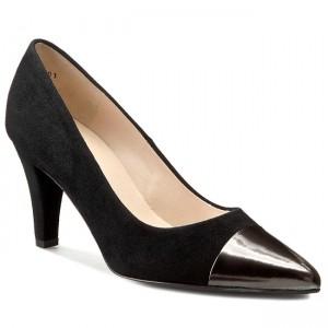 Shoes PETER KAISER - Pandora 75 76409/545 Carbon Iron Schwarz Suede