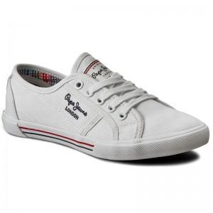 eda44cb9cf4 Plimsolls PEPE JEANS - Aberlady Fresh PLS30645 SIlver 934 - Sneakers ...