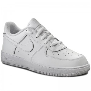Shoes NIKE Air Force 1 (Gs) 314192 117 WhiteWhiteWhite