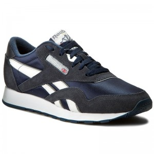 Shoes Reebok Cl Nylon 39749 Team NavyPlatinum Sneakers