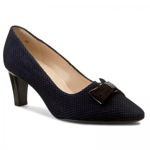 Shoes PETER KAISER 68657445 Notte Moon Schwarz Lack Suede