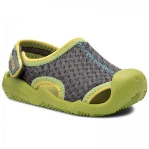 Sandals CROCS - Crocband II Sandal Ps 14854 Volt Green Navy ... 7f4ac6ec434