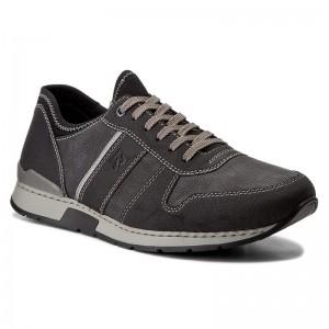 19400 01 Mens Black Combination lace up shoe