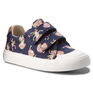 3458153ab7e Shoes CLARKS - Comic Trick 261333487 Red Canvas - Velcro - Low shoes ...