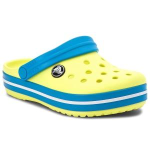crocs Kinder Sandale Crocband Clog K 204537 Tennis Ball Green/Ocean 20-21 1cJsIP