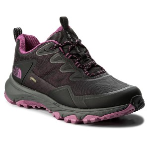 SalomonOUTLINE GTX - Hiking shoes - graphite/potent purple
