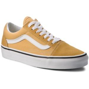 Vans Old Skool Ochre & White Skate Shoes | Vans old skool