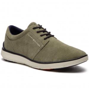 2836adb22 Shoes TOMMY HILFIGER Lightweight City Suede Shoe FM0FM01610 Dusty Olive 011