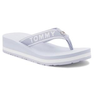 3f7ac49010d56 Slides TOMMY HILFIGER Tommy Branding Beach Sandal FW0FW02953 Halogen Blue  425