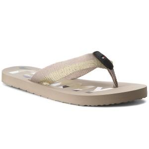 4e4a2668fc032 Slides TOMMY HILFIGER Glitter Strap Beach Sandal FW0FW02957 Cobblestone 068