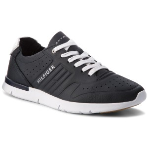 Sneakers TOMMY HILFIGER Unlined Th Light Leather Runner FM0FM01630 Midnight  403 0dea4e3ed2c