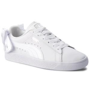4e4eb8e1b Sneakers PUMA - Basket Bow Dots Jr 368980 03 Puma White/Silver/Gray ...