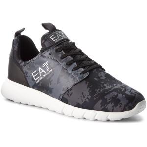 Sneakers EA7 EMPORIO ARMANI Sneaker X8X010 XK010 A002 Camo Print Grey Blk 69d5e235ae