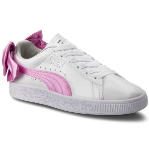 2897b54565ff2f Sneakers PUMA - Basket Bow Patent Jr 367621 02 Puma White Orchid Gray