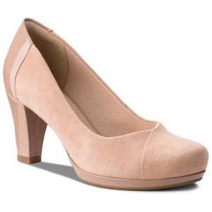 Shoes CLARKS Chorus Carol 261326894 Beige Combi Heels