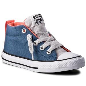 Sneakers CONVERSE Ctas Street Mid 656068C Blue Coast Mouse Hyper Orange 1c469facee