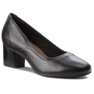 Shoes CLARKS Un Cosmo Step 261354464 Black Leather Heels