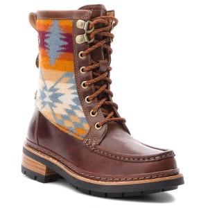 Boots CLARKS Ottawa Peak 261383394 Dark Tan Combi Boots