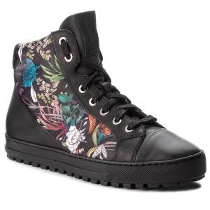 Sneakers GINO ROSSI - Aversa DTH224-F46-8QSS-9999 escarpe neri Pelle WGG1bKkC