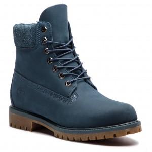 Hiking Boots TIMBERLAND - Premium 6 In Waterproof Boot TB0A1UEU431 Navy  Nubuck 25b94649a89a6
