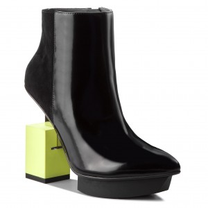 Boots UNITED NUDE Cube Bootie 103410131811904 BlackLime