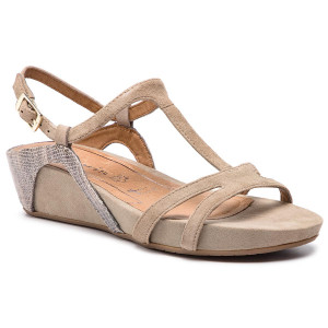 Sandals TAMARIS 1 1 28242 22 Nut Comb 441 Wedges Mules