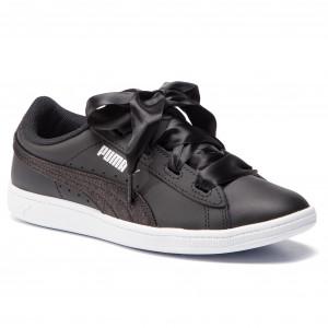 f80436dddf5a Sneakers PUMA - Vikky Ribbon L Satin Jr 369542 04 Puma Black/Puma Silver/