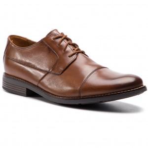 Shoes CLARKS Edward Plain 261395367 Tan Leather Formal