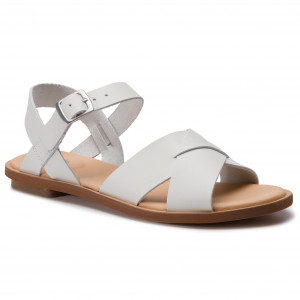 Sandals CLARKS Willow Gild 261419174 White Leather