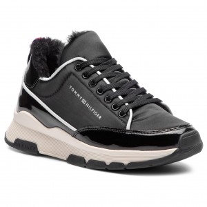 521cccb33cd17 Sneakers TOMMY HILFIGER Cool Technical Satin Sneaker FW0FW03970 Black 990