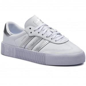 Shoes adidas Sambarose W EE9017 Ftwwht Silvmt Cblack 7d66d09ed2a