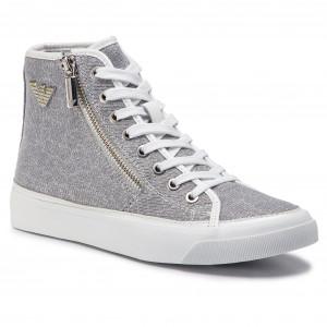 Sneakers EMPORIO ARMANI X3Z017 XL487 A646 White Silver fc59976b48b