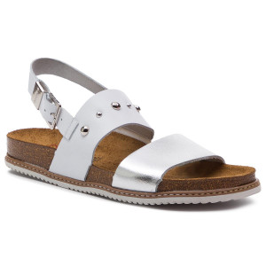 Tamaris Active Slide Women White Leather Sandals Size 4110